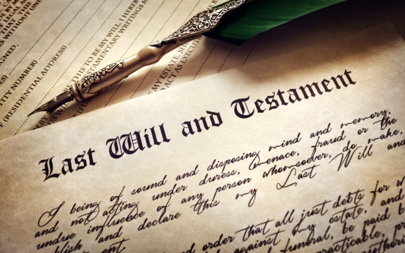 The importance of having a will. The dead cannot talk.
