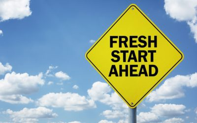 Fresh start ahead road sign