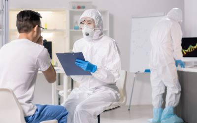 Talking to virus patient